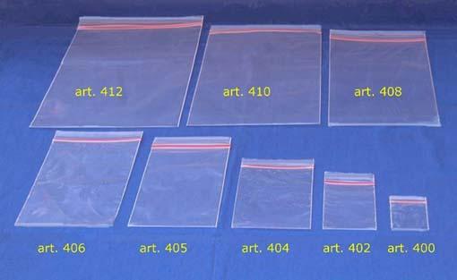 Buste di plastica con cerniera