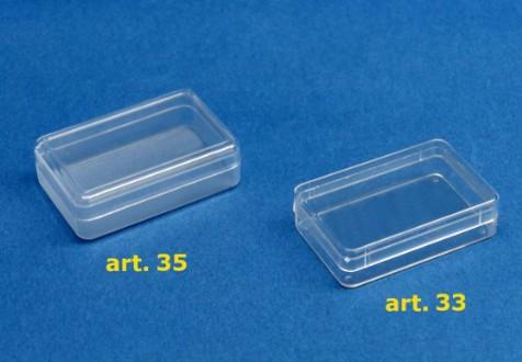 Scatole plastica trasparente rettangolari - Sicher